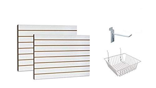 White Slatwall Panels Organizer Kit - Includes (2) - 24