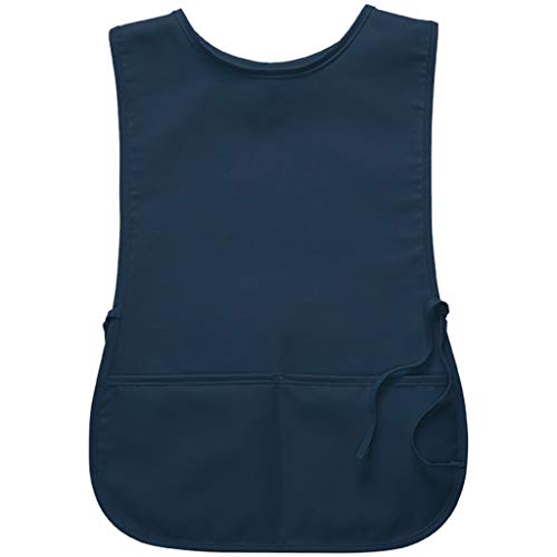 DayStar Apparel 2-Pocket Unisex Cobbler Apron with Side Ties and Deep Pockets - Style 400 (Regular, Navy)