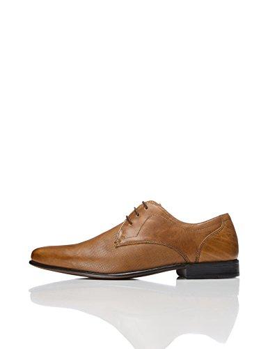 find. Amos Derby Schuhe Herren mit Struktur und Blockabsatz, Braun (Napa Tan), 42 EU