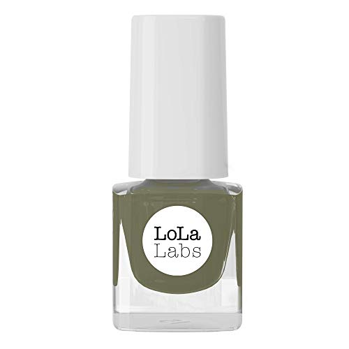 LoLaLabs I VEGANER Nagellack olivgrün I Holla die Waldfee I 14-Free I Made in Germany I 5 ml