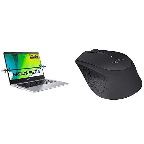 Acer Chromebook 314 CB314-H - (Intel Celeron N4000, 4GB RAM, 32GB eMMC, 14 inch HD display, Chrome OS, Silver)1000 DPI Optical Tracking, 3 Buttons, 18 Month Life Battery, PC / Mac / Laptop - Black