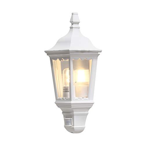 Konstsmide Firenze 7230-250 wandlamp B: 25 cm D: 16 cm H: 49,5 cm / 1x100 W / IP43 / gelakt aluminium/mat wit/met BWM