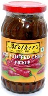 Mother's Recipe Red Stuffed Chilli Pickle - 500g