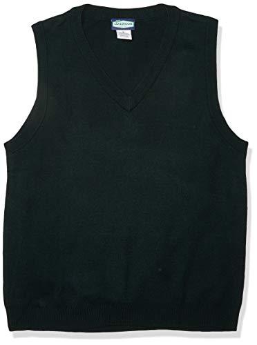 Classroom School Uniforms Men's Adult Unisex V-Neck Sweater Vest, Hunter, Medium