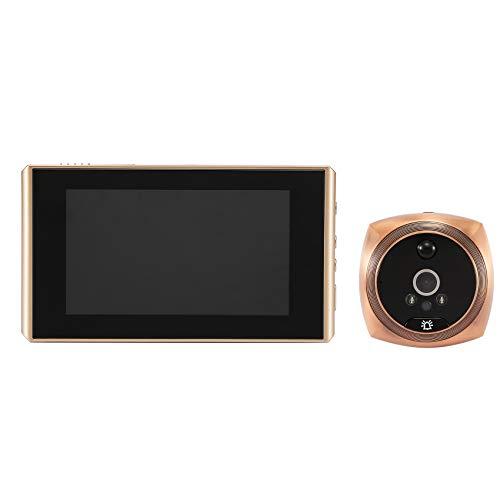 Mogzank Pantalla LCD de 4,3 Pulgadas Timbre Digital 160 ° Ojo de la Puerta Mirilla ElectróNica Visor de la CáMara de la Puerta Timbre de la Puerta Exterior Oro