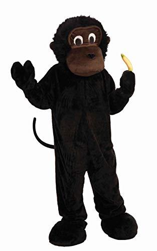 Forum Novelties Men's Plush Gorilla Mascot Costume, Black, One Size