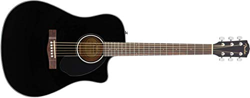Fender CD-60SCE Acoustic-Electric Guitar in Black Finish