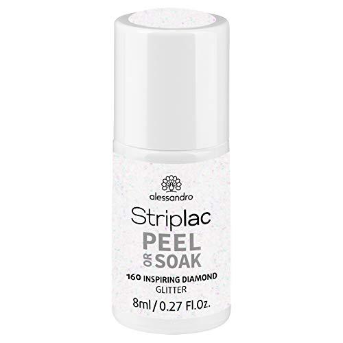 alessandro Striplac Peel or Soak Inspiring Diamond - LED-Nagellack in Silber - Für perfekte Nägel in 15 Minuten, 8 ml