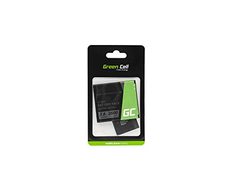 Batería de Repuesto Interna Green Cell B600BE Compatible con Samsung Galaxy SIV S4 i9505 i9506 G7105   Li-Ion   2600 mAh 3.7 V   Batería de reemplazo para teléfono móvil del Smartphone   Recargable