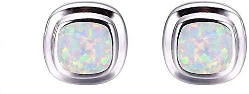 925 Sterling Silver Women Earrings Best Gift for Lovers-White opal