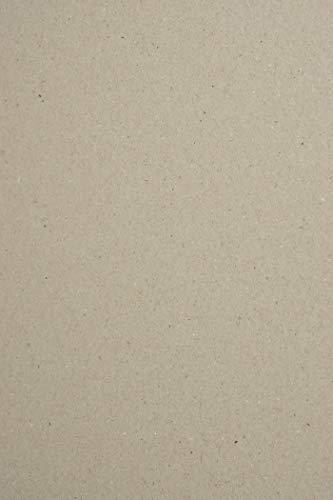 20 Blatt Graupappe DIN A4, 210 x 297 mm, Buchbinderpappe 1,5 mm, Graukarton 923g, ideal für Bastelarbeiten, Buchbinderarbeiten, Kalendergestaltung
