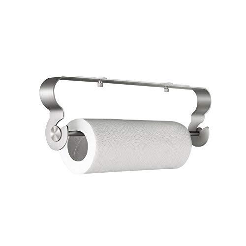 BangShou Küchenrollenhalter Ohne Bohren Küchenrollenspender Edelstahl Matt Küchenpapierhalter Papierrollenhalter Handtuchhalter