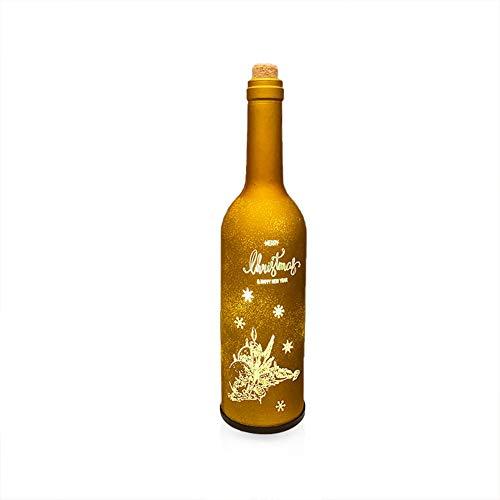Weinflasche Licht, LED Flaschen-Licht, Flaschengirlanden-Korkenlampen Für Flasche DIY Dekor, Weinflasche Lichter Party, Deko Hochzeit, Weihnachten, Garten.(Gelbe Kerze)