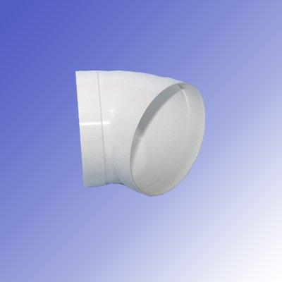 Rundrohrbogen NW 150, 45°. Lüftungszubehör; Zubehör für Rundrohr, Abluftkanal, Zuluftkanal, Lüftungskanal, Dunstabzugshaube, Lüftungsrohr, Lüftungssystem (NW 150, System 150)