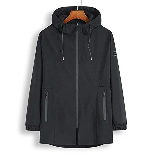 Hochwertige Frühling und Herbst große Plus Size 8XL 7X Code Männer MantelCasual Loose Haben Sie einen Hut Super Large Size Jacke Herren Outwear