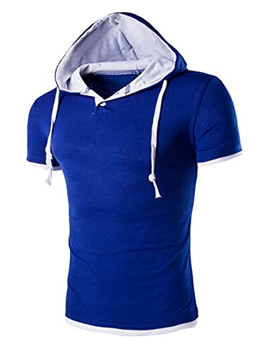 Hoodie Herren Slim Fit Mode Spleißen...