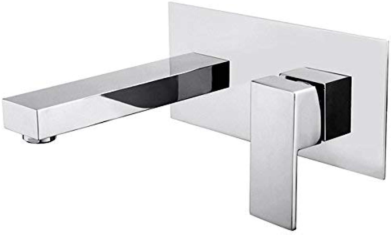 Waschbecken Wasserhahn - weit verbreitet Chrome Wand Montiert Single Handle Zwei Lcher
