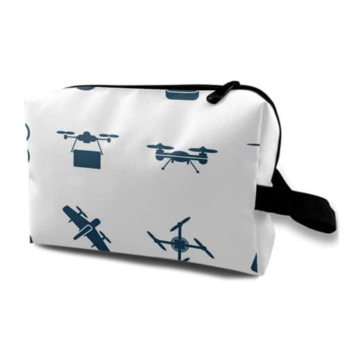 Borsa da viaggio sospesa,Volante Drone Oggetti semplice piatto a colori Icone Collection1,Organizer per trucco cosmetico Borsa per l'igiene e Organizzatore per doccia