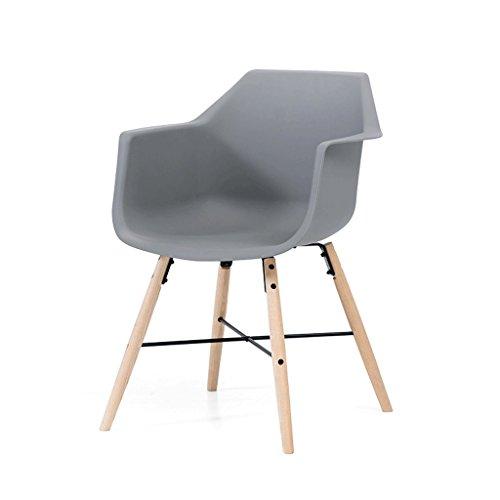 Fauteuils Chaise décorative grise Chaise en bois massif Fauteuil Chaise d'ordinateur Chaise longue Fauteuils et Chaises
