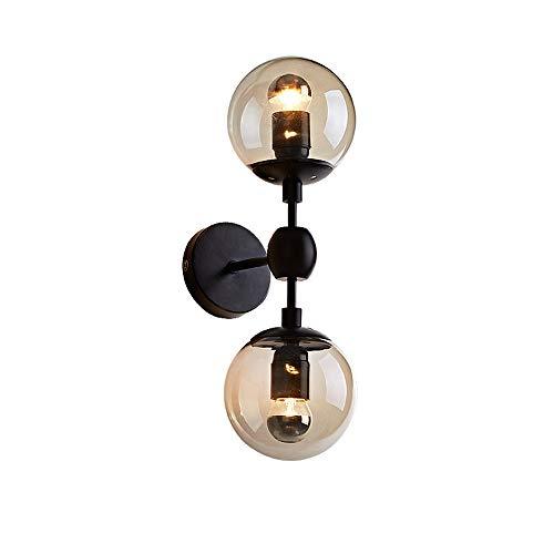 Tritow Nordic Creative Lumières Murales Chambre Lampe De Chevet Simple Salon Applique Murale Balcon Allée Escalier Industriel Double Tête Mur Projecteurs