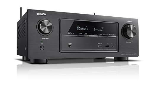 Denon AVRX3400H 7.2 Surround AV-Receiver (HEOS Integration, Dolby Vision Komtabilität, Dolby Atmos, dtsX, WLAN, Bluetooth, Amazon Music, Spotify Connect, HDMI Eingänge, 7x 180 W) schwarz
