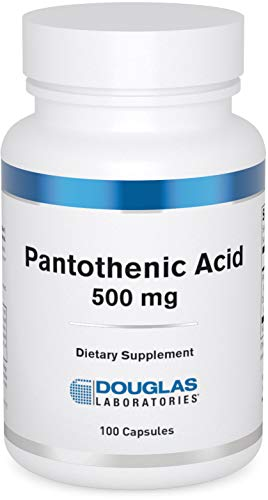 Douglas Laboratories - Pantothenic Acid (500 mg.) - Vitamin B-5 to Support Energy Production and Nervous System - 100 Capsules