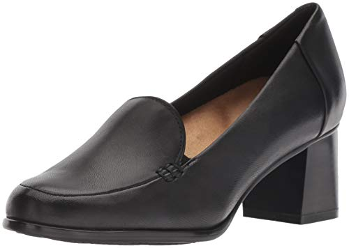 Trotters Women's Quincy Pump, Black Leather, 8.0 W US