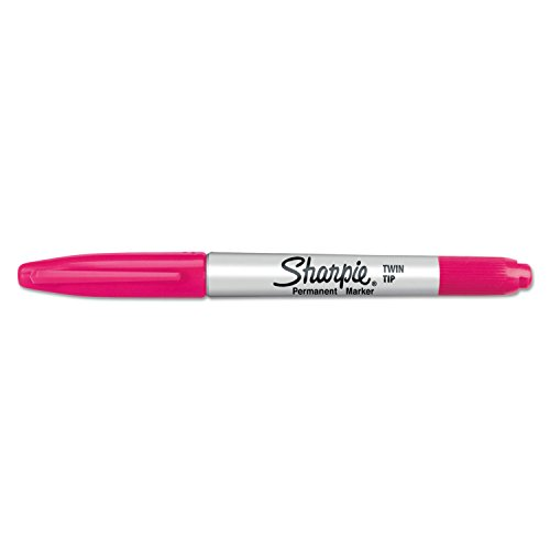 Sharpie Twin-Tip Permanent Marker, Fine/Ultra Fine Point, Magenta (Single Pen Included)
