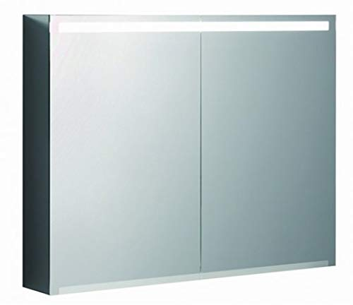 Keramag Geberit Option Spiegelschrank mit Beleuchtung, Zwei Türen, Breite 90 cm, 500583001