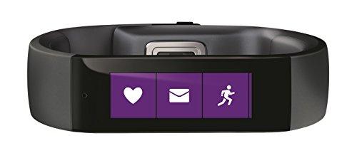Microsoft Fitness and Activity Tracker Wrist Band - Large, Black