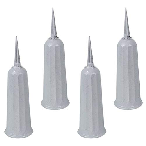 BESPORTBLE 4Pcs Cemetery Grave Cone Vase for Graveside Memorial with Stake for Outdoor Use Fresh or Artificial Flower Arrangement Container Memorial Supplies