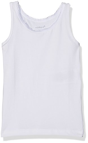 Name It Nmftank Top 2p Solid Noos Maillot De Corps, Multicolore (Bright White), 92 (Lot de 2) Bébé Fille