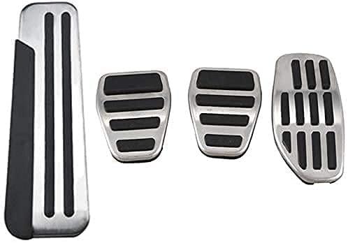 CHENGQIAN Pedale Dell'Acceleratore per Auto, Calotte Pedale Poggiapiedi, per Qashqai J11 2016-2020 Acciaio Inox Antiscivolo Copripedali Poggiapiedi Car Interni Accessori