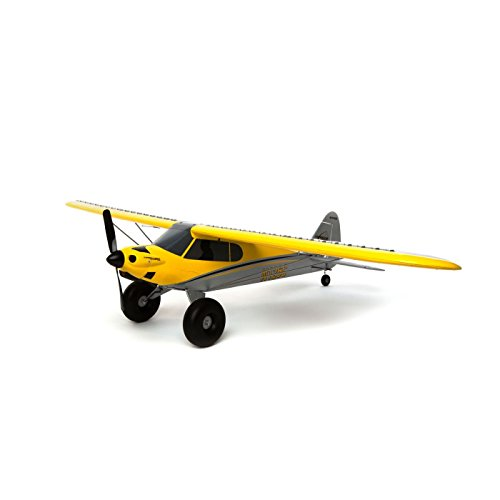 HobbyZone Carbon Cub S+ 1.3M RC Airplane BL RTF with Safe & GPS (Includes DXe 2.4GHz Transmitter | 1300mAh 3S 20C LiPo Battery | USB Charger), HBZ3200, Yellow