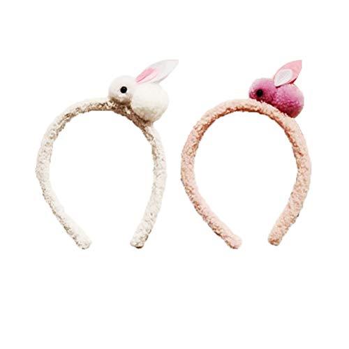JOYOOY Oster-Hase Stirnband, schöne Kopfbedeckung, Cartoon-Hasen-Haarreifen, Party-Zubehör für Kinder, 2 Stück