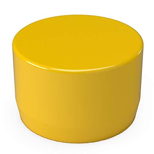 "FORMUFIT F001EEC-YE-10 PVC External End Cap, Furniture Grade, 1"" Size, Yellow (Pack of 10)"