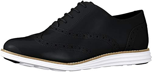 Cole Haan Women's Original Grand Wing Oxford, Black/Optic White, 7 B US