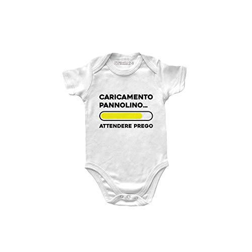 Body para bebé de manga corta divertida, para bebé, unisex, 100 % algodón, suave y transpirable, con costuras dobles, ropa de primera infancia, para bebé Color blanco. 12-18 Meses