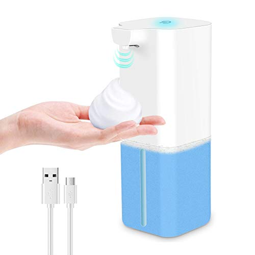 Etmury Seifenspender Automatisch Elektrischer Schäumende, USB Aufladung Automatischer Seifenspender mit Sensor Infrarot, Schaum/ Alkoholdesinfektion für Bad, Küche, WC, Hotel 350ml