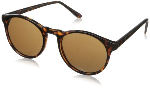A.J. Morgan Grad School Round Sunglasses, Tortoise, 198 mm