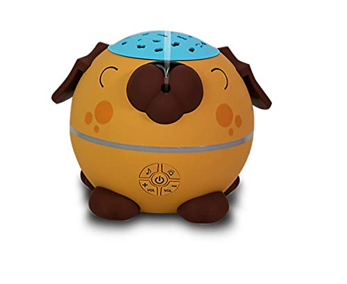 NOW Essential Oils, Sleepy Puppy Aromatherapy Oil Diffuser, Projects Onto Ceiling, Runs up to 12 Hours, Plays Multiple Soothing Sounds, Includes Volume Control