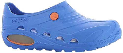 Oxypas Safety Jogger - Zapatos de trabajo unisex para adultos, color azul eléctrico, talla: 41/42