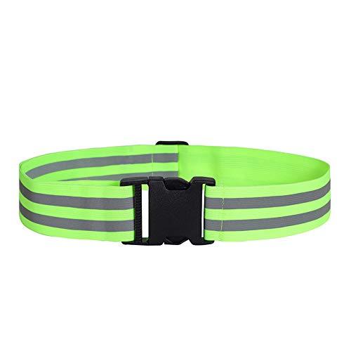 Xiaomu Cintura Correa Reflectante De Seguridad Tipo De Hebilla Reflectante De Un Toque Color Fluorescente Ajustable Ligero Caminar De Noche Correr Correr Cinturón