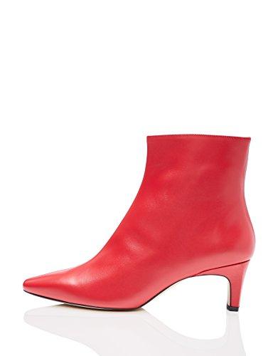 find. Botines de Tacón de Piel Mujer, Rojo (Red 007), 40 EU