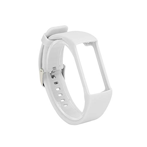 Vaorwne Silicone Watchband for Polar A360 A370 Wristband Silicone Wriststrap Smart Bracelet Replacement for Polar Fitness Tracker White