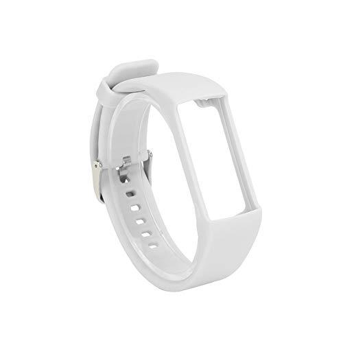 LQNB Banda de Reloj de Silicona para Pulsera Polar A360 A370 Correa de MuuEca de Silicona Reemplazo de Pulsera Inteligente para Polar Fitness Tracker Blanco