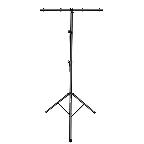 Neewer Stage Light Tripod Stand with T-bar and 4 Hanging Bolts 61.4-12.76 inches/156-324 centimeters Adjustable Height for Marriage Stage Performance Party DJ Club Band and More