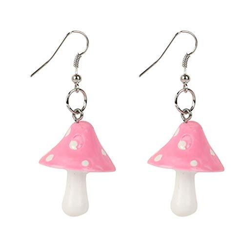 QQWA Kreative Pilz-Form Ohrring Anhänger Damen Stilvolle Ohrringe Ohrringe Schmuck Geschenk Geeignet Für Hochzeit, Party, Reise, Datum