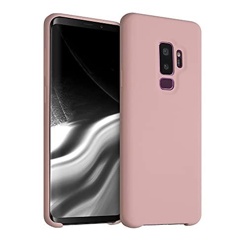 kwmobile Hülle kompatibel mit Samsung Galaxy S9 Plus - Hülle Handyhülle gummiert - Handy Case in Peach Skin