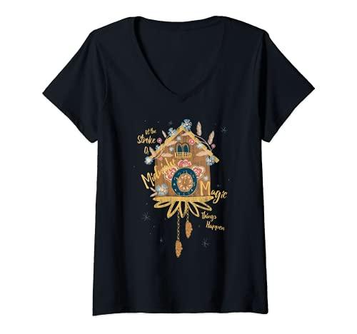Mujer Las cosas mágicas suceden en el golpe de medianoche mujeres niña Camiseta Cuello V